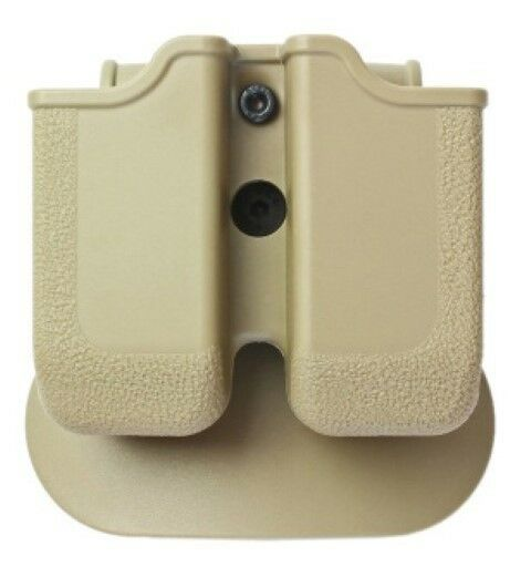 Z2050 IMI Defense Tan Right Hand Double Magazine Pouch H&K USP .45 and H&K 45C