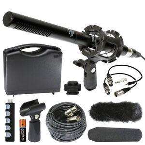 """Importé De L'éTranger Vidpro Xm-55 11"""" Condensateur Shotgun Vidéo Dslr Broadcast 13 Pièce Microphone Kit-afficher Le Titre D'origine 100% D'Origine"""
