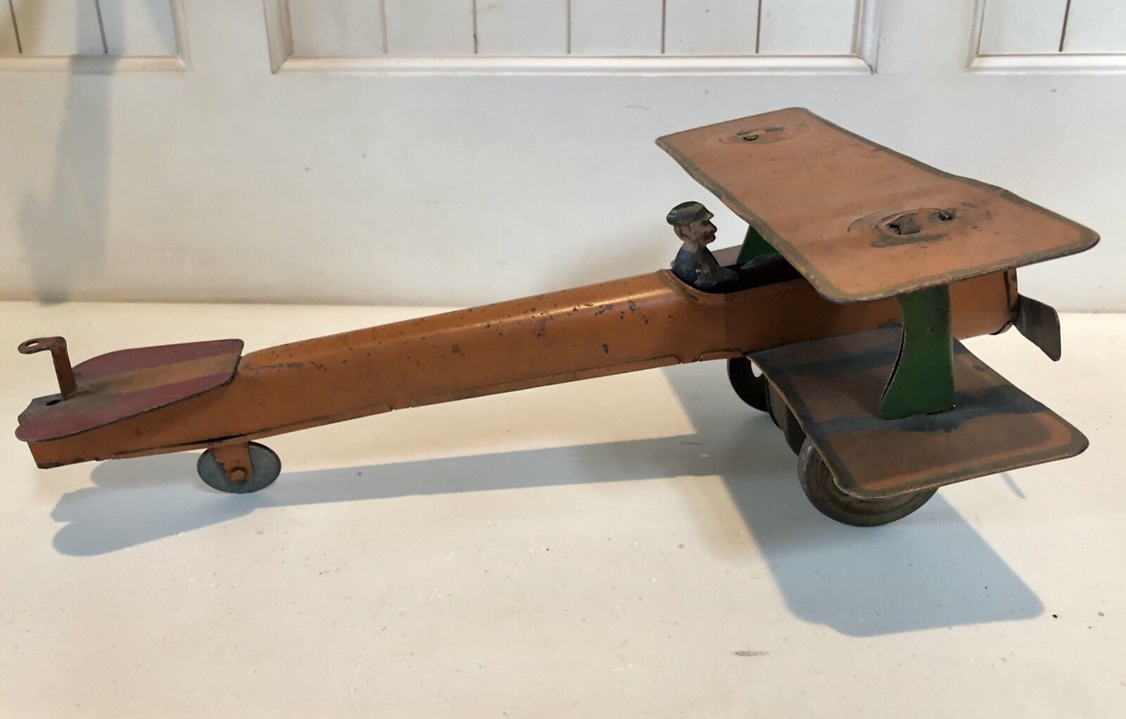 Early 1900's Metal Biplane Toy Toy Toy 6bc3aa