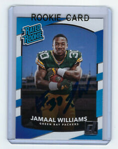 2017-PACKERS-Jamaal-WIlliams-signed-ROOKIE-card-Donruss-317-AUTO-Autographed-RC