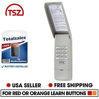 2 For 977LM Liftmaster Garage Door Keypad Keyless Entry Opener Red Orange Learn