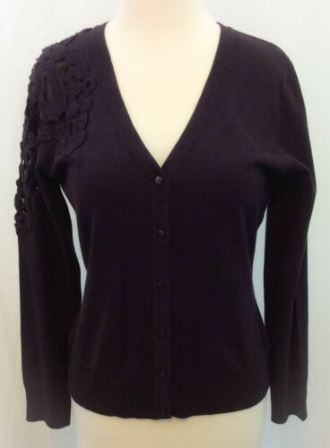 Nancy Yang Embroid Womens Cardigan NWT