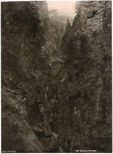 Suisse-Viamala-deuxieme-pont-vue-generale-Vintage-albumen-print-Tirage-a