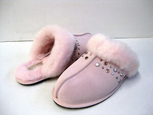 e2bc3b1a4ee Details about UGG SCUFFETTE II WOMEN SLIPPERS SUEDE BLING PINK US 12 /UK  10.5 /EU 43
