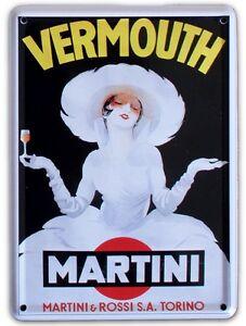 MARTINI-WHITE-LADY-Small-Vintage-Metal-Tin-Pub-Sign