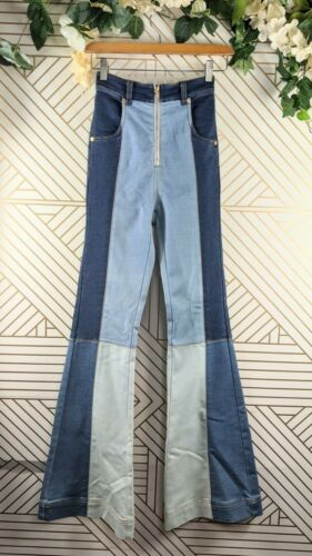 Alice Mccall Colorblock Hometown Flare Jeans patch