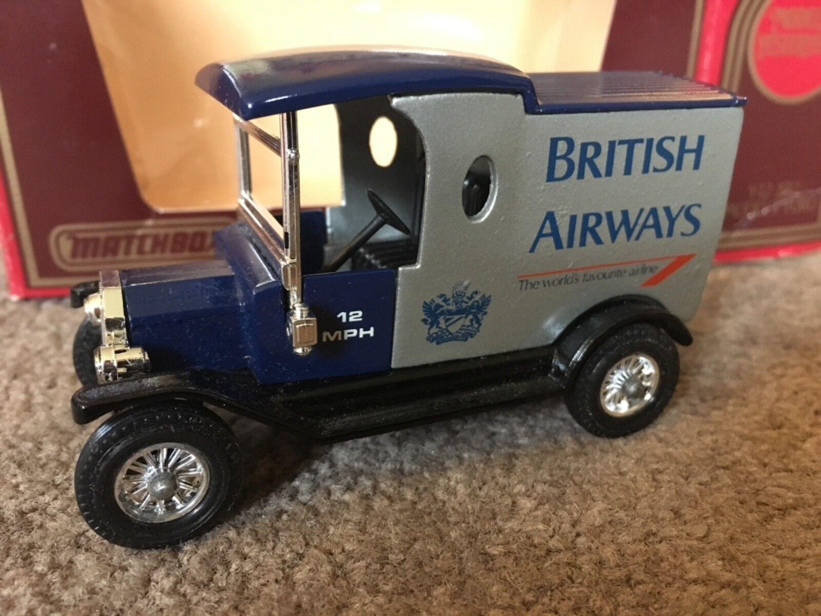 Y12 matchbox - modelle von vorgestern ford t - modell der british airways von len holmes