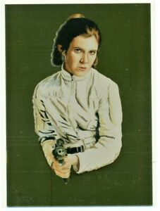 2011 TOPPS STAR WARS GALAXY GOLD FOIL PARALLEL PRINCESS LEIA CARD #8  205/600