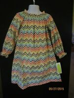 Chevron In Fall Colors A-line Elastic Neck Dress Long Sleeves Be Mine