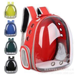 Portable-Mascota-Portador-espacio-Capsula-Mochila-Bolsa-De-Viajero-portadores-de-burbuja-dog-amp-cat