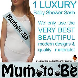 Image Is Loading BLUE BABY SHOWER SASHES Mummy Nanny Aunty Amp