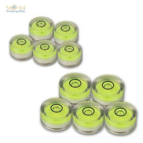 Ø 15mm ou 18mm Libellule Ronde Précision Balance Niveau à Bulle 5 Pièces à