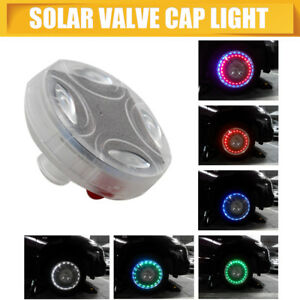 Solar Energy LED Car Auto Bike Flash Wheel Tire Valve Cap Light Lamp 13 Modes