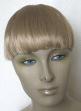 dark blonde clip in on fake fringe bangs hair extension hair piece fancy dress