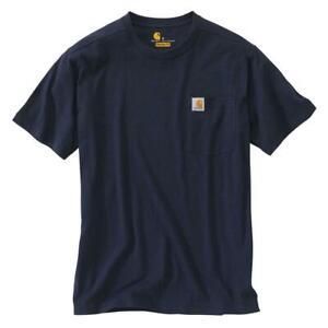 Carhartt Men S Regular Xxx Large Navy Cotton Short Sleeve T Shirt 886859464855 Ebay