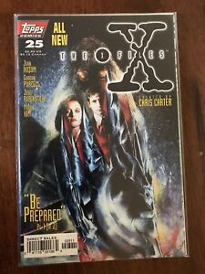 X-Files-Be-Prepared-25-Part-1-of-2-January-1997-Topps-Comics-FREE-Bag-Board