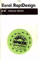 Berol Rapidesign Template - Parallel Spacer - R-10