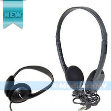 New! 3 Pack ExpressJet 3.5mm Black Stereo Headphones Genuine USA Original