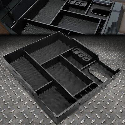Center Console Insert Organizer Tray Fits 14-18 Toyota Tundra Black Storage Box