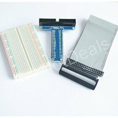 T Type GPIO Extension Board +Breadboard +Cable Raspberry Pi 2 Model B+ (B Plus)