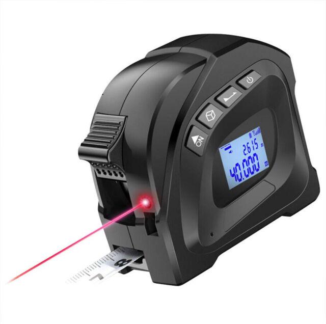 Digital 40M Laser Tape Measure Area Single Max&Min Range Finder Measuring Tool