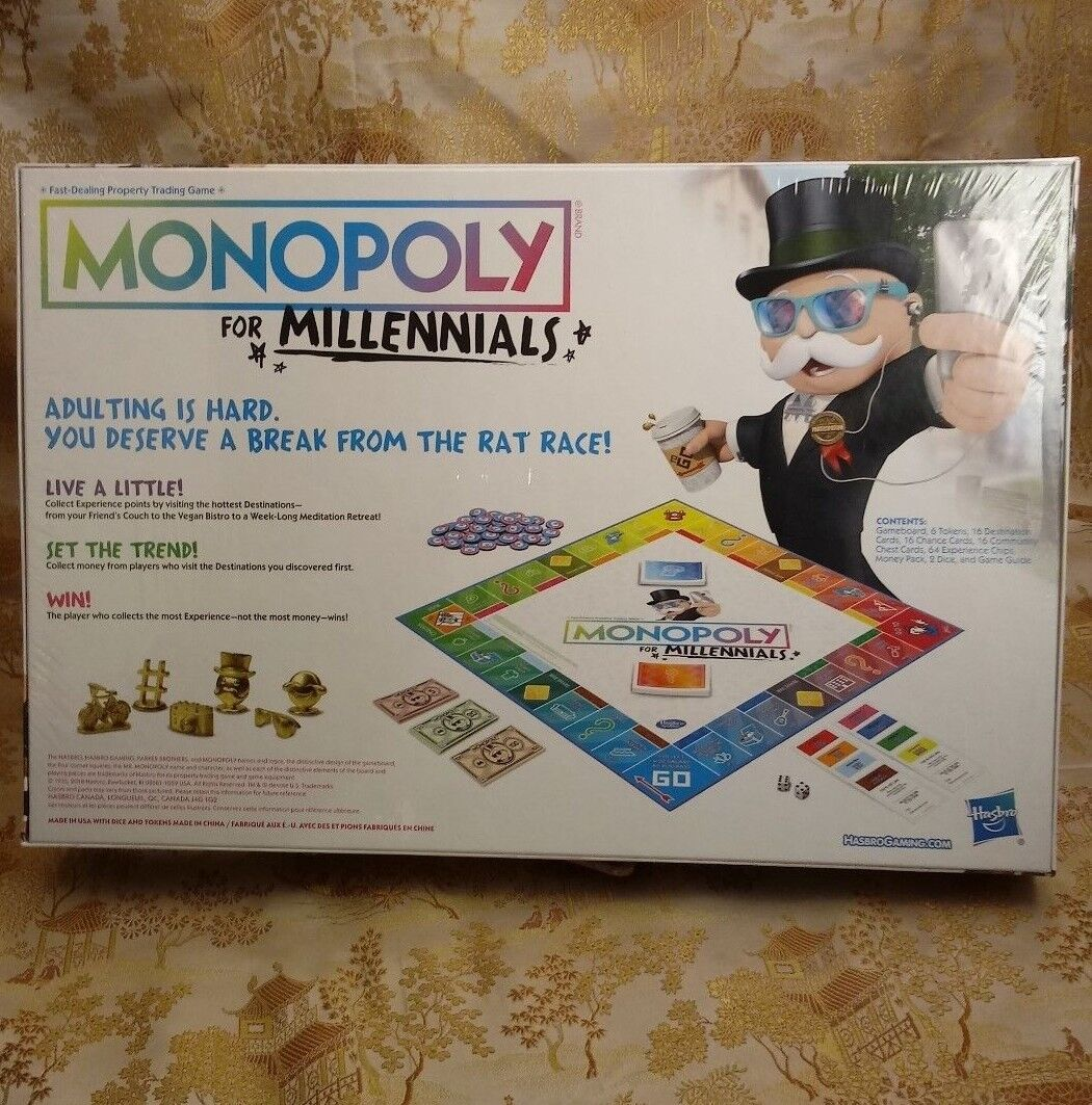 Monopoly For Millennials Millenials Edition Brand Brand Brand Priority Shipping Board Game 4899d4