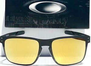 7779a22746f NEW  Oakley HOLBROOK METAL BLACK POLARIZED PRIZM GOLD 24k Sunglass ...