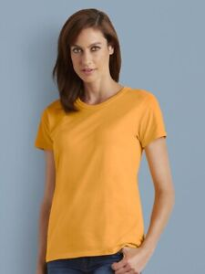 Gildan-Heavy-Cotton-Women-039-s-Short-Sleeve-T-Shirt-5000L