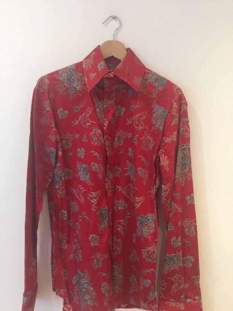 Pose London Mens Flowered  Red   Shirt  UK L