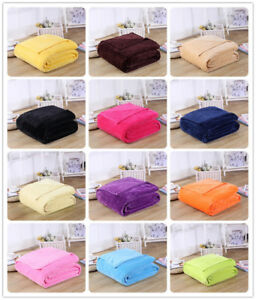 150-200-Plain-Sherpa-Coral-Fleece-Blanket-Soft-Luxury-Warm-Home-Sofa-Bed-Throw