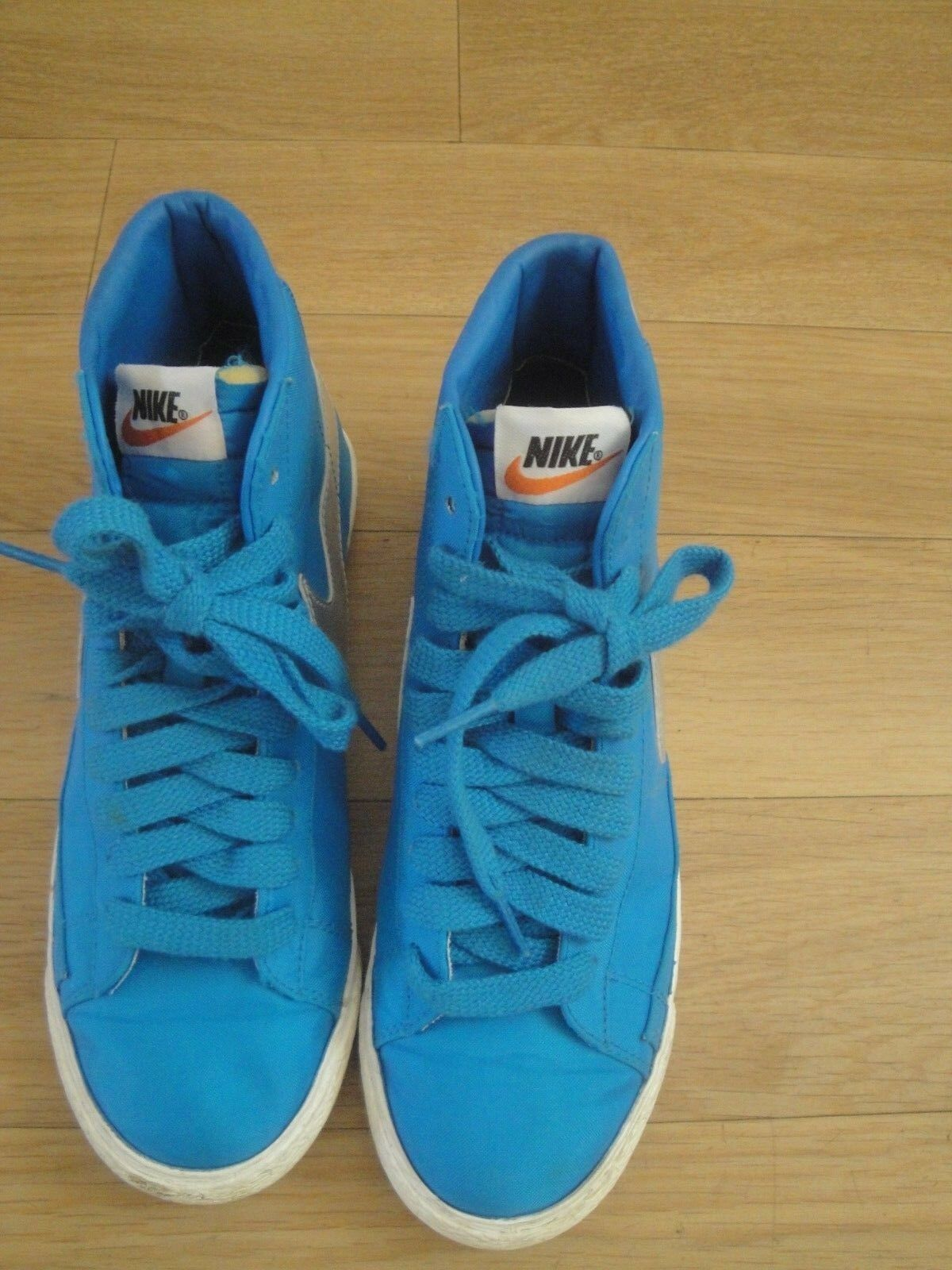 NIKE TRAINERS SHOES SIZE BLUE UNISEX HI TOP