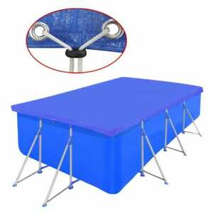 vidaXL Pool Cover PE Rectangular 90 g/sqm Swimming Pool Cap Shade Multi Sizes