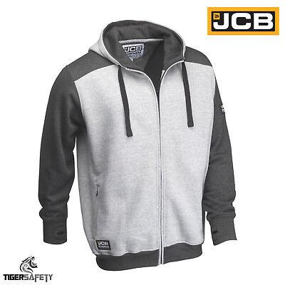 Sizes S-XXL Work Hooded Jumper Trade Hoody Mens JCB Horton Hoodie Black//Grey