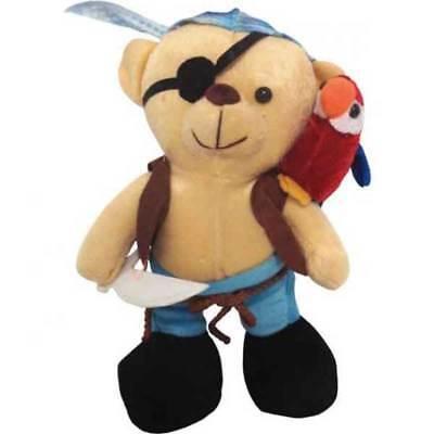 Piraten Bär mit  Papagei Plüsch Spielzeug Kinder 25 cm Plüschtier