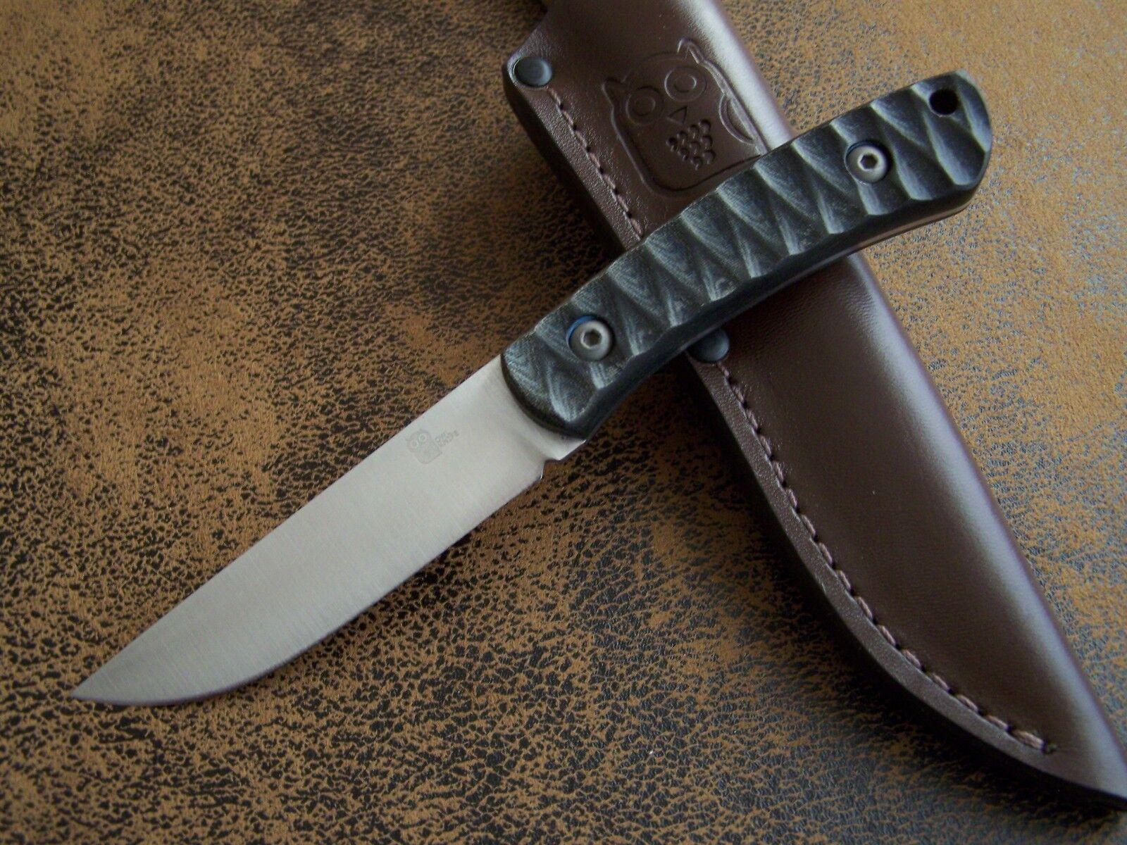 OWL KNIVES Exklusives Outdoor   Jagdmesser Mod. KETUPA-SF N690 Böhler St. 61-HRC