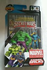 Marvel Universe Secret Wars Comic Packs Hulk/Cyclops 3.75 Action Figure