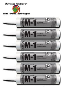 6 TUBES Chemlink M1 BLACK Structural Sealant - 10.1 oz Cartridge - ChemLink M-1