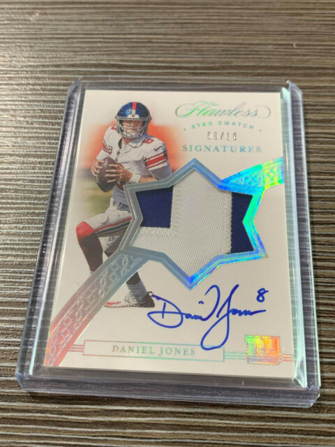 2020 Flawless Patch Auto Star Swatch Signatures Daniel Jones 9/10 On Card