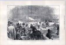 1876 Crystal Palace Circus Elefante mostra Re Regina Grecia