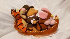 Indian Tigger Pooh pilgrim Turkey piglet canoe Thanksgiving USA bean bag beanie