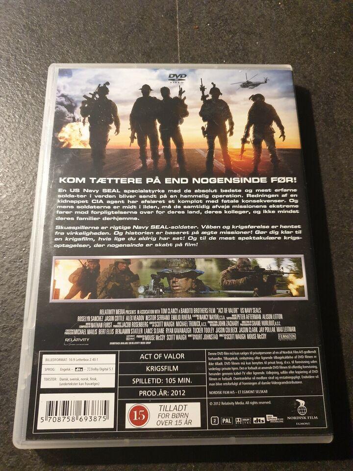 Act Of Valor, instruktør Mike McCoy & Scott Waugh, DVD