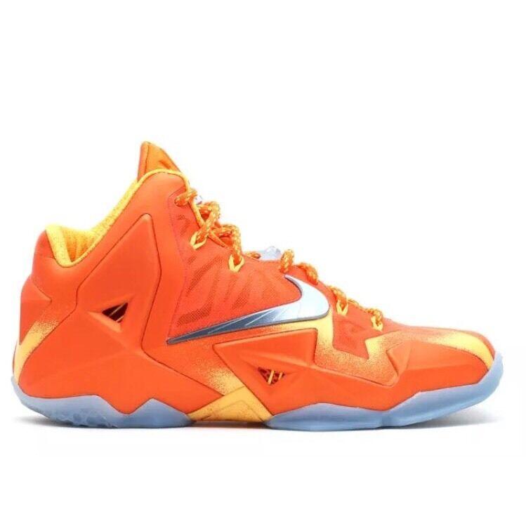 Nike Lebron 11 XI Preheat Forging Iron 14 Orange SYRACUSE Phoenix Suns Barkley