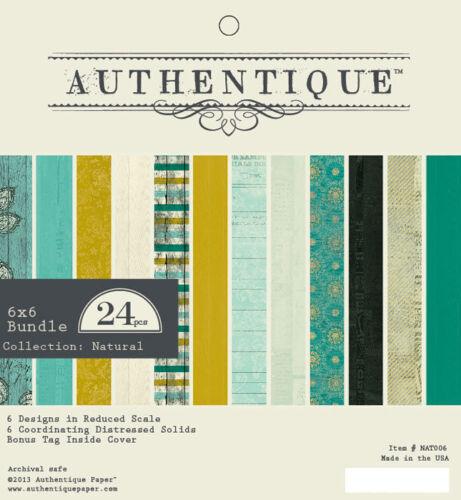 """Nouveau Authentique 6/"""" x 6/"""" Paper Pad naturel"""