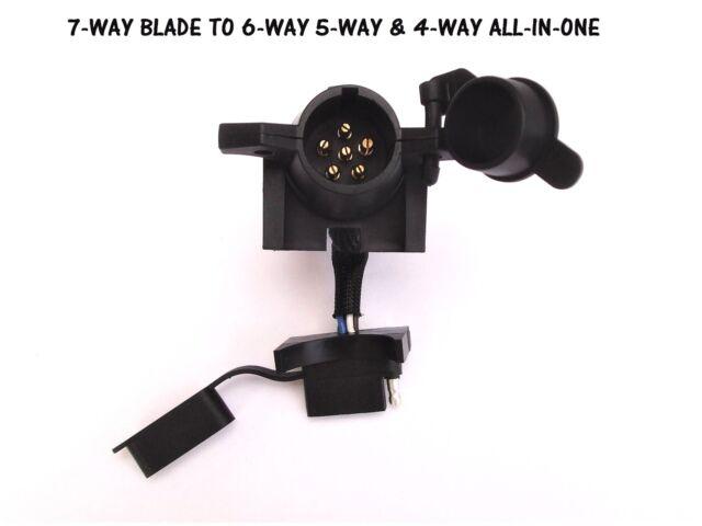 4 way flat to 7 way round rv blade wiring adapter trailer hitch plug rh ebay com