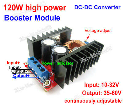 120w Boost booster module electric motorcycle charging DC-DC 10-32v to 35V-60V