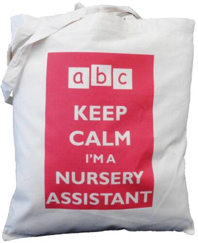 Natural Cotton Shoulder Bag Keep Calm I/'m the Nursery Assistant Teaching Gift
