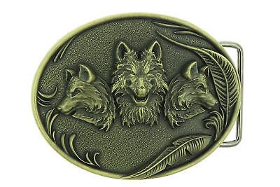 Wolves Wolf Animal Western Metal Belt Buckle