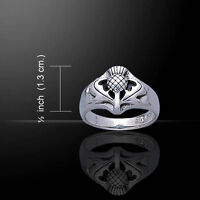 Scottish Thistle .925 Sterling Silver Ring By Peter Stone