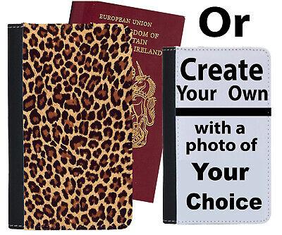 Affidabile Leopardo Stampa Custodia Per Passaporto Pattern Di Pelle Design Nero Arancione Case Cover A866-mostra Il Titolo Originale