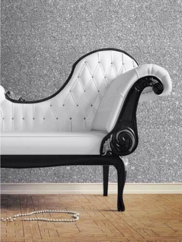 Tapete Silber Glitter Effekt metallic Glitzer Wandtapete Raumtapete sehr edel